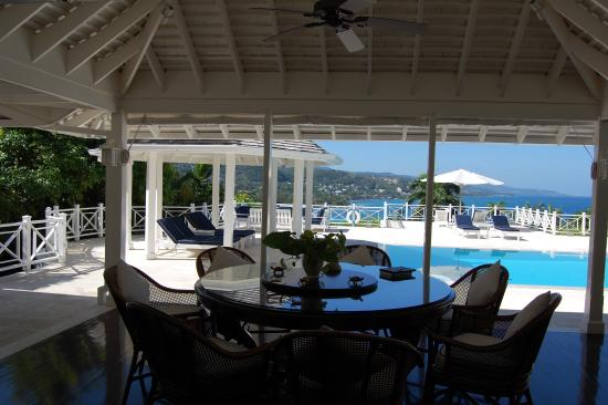 Hopewell, Jamaica: cottage 16 - view from our sitting area overlooking private pool and patio