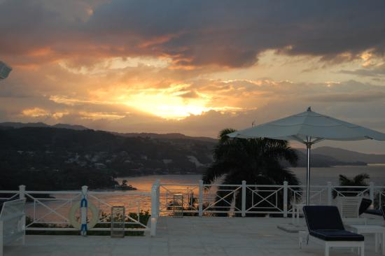 Hopewell, Jamaica: sunset from the private patio at cottage 16 - beautiful!