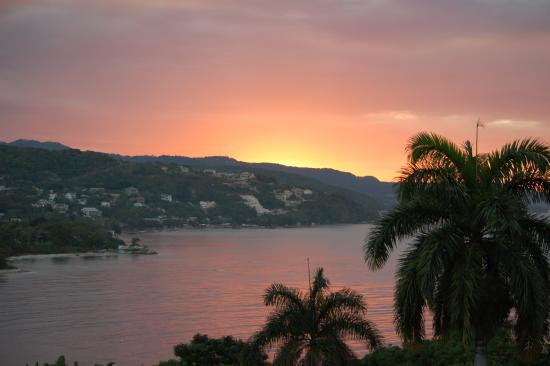 Hopewell, Jamaica: one more sunset from private patio at cottage 16