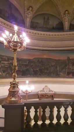 Muzeum Hlavního Města Prahy: Schodiště a panorama Prahy z 1. třetiny 19. st.