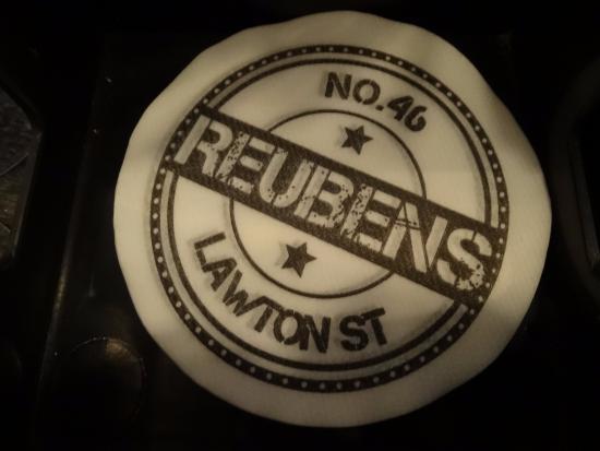 Congleton, UK: Reubens 46 beermat