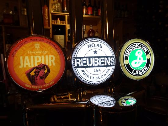 Congleton, UK: Beer choices