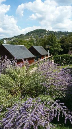 Entraygues-sur-Truyere, Prancis: Les chalets du bastie camping val de saures