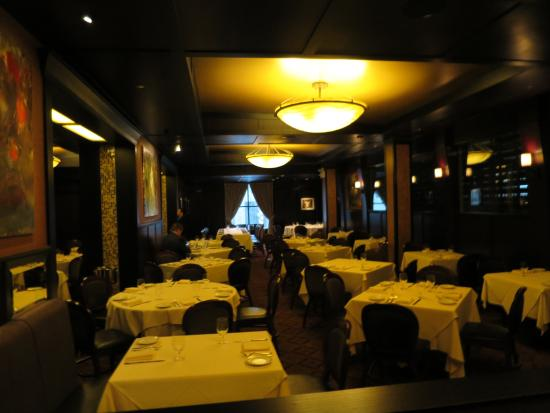 Benny's Chop House: One of the partitioned dining rooms