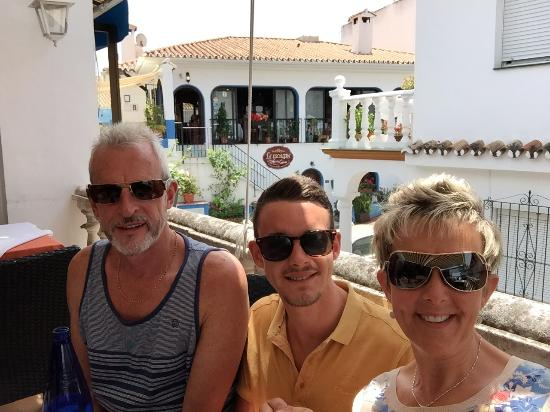 On the roof top on another beautiful day in Benahavis in one of our favourite restaurants, Los F