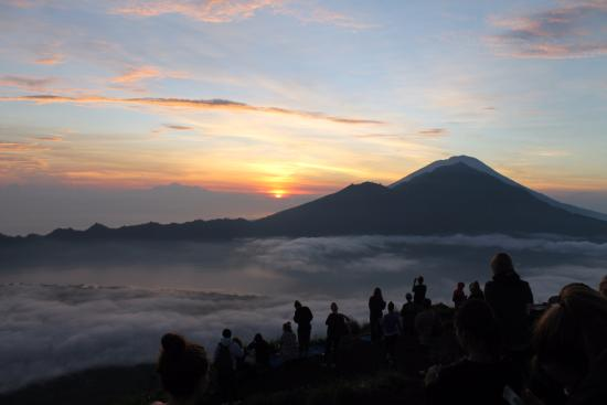Sharing Bali: On top of the volcano at sunrise
