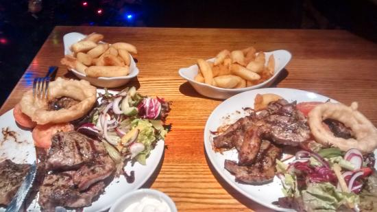 Llantwit Major, UK: minted lamb chops