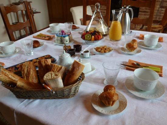 Eure, Γαλλία: Table des petits-déjeuner