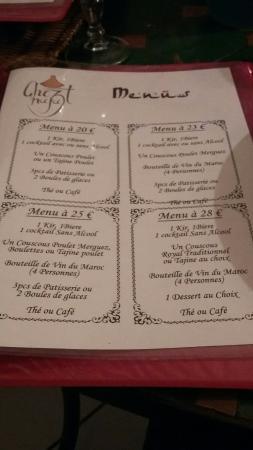 Montlucon, Frankreich: Exemples de plats du restaurant, menus et déco!