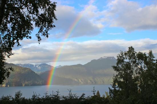 Halibut Cove, AK: Rainbow