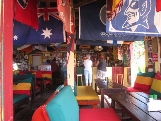 Charlestown, Nevis: visitors from all of the world - lots of celebrities come to try Killer Bee