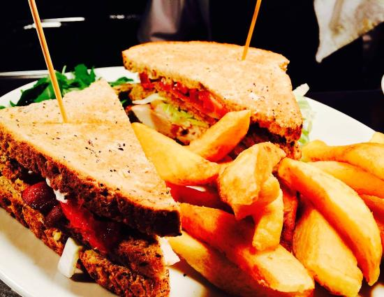 ‪‪Widnes‬, UK: classic club sandwich with Homemade Chips‬