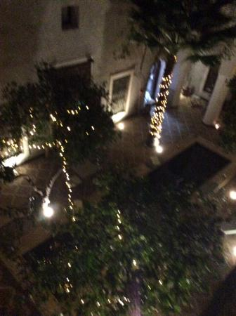 Le Rihani: Looking down from our room to the atrium