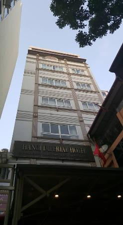 Hanoi Imperial Hotel: View from outside the hotel
