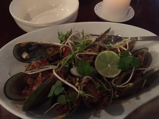 Arrowtown, Nueva Zelanda: Mussels were fresh, big and flavoursome