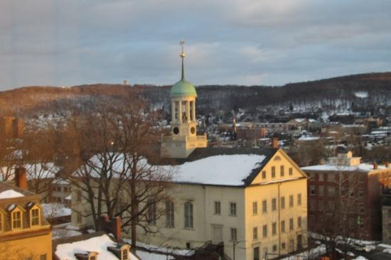 Historic Hotel Bethlehem : View of Central Moravian Church from Room 732