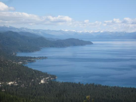 Lake Tahoe Nevada State Park: looking south down nevada shoreline, lake tahoe