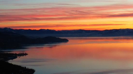 Lake Tahoe Nevada State Park: lake tahoe sunset