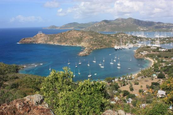 English Harbour, Antigua: View from Shirley Heights