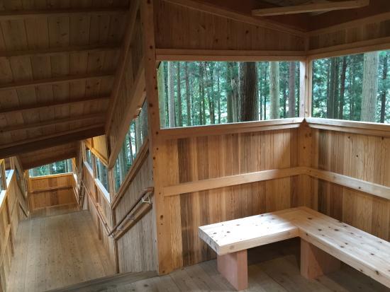 Kiboso: 露天風呂までの階段