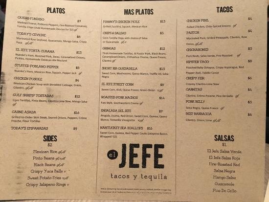 Stevens Point, Ουισκόνσιν: Jefe Tacos Y Tequila