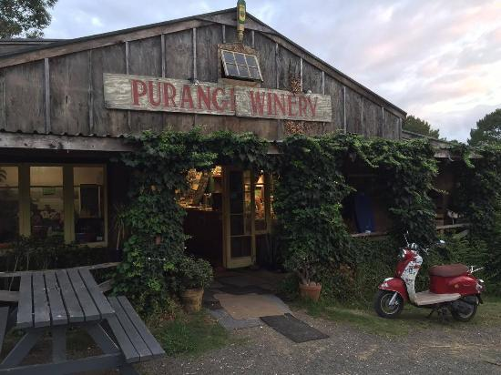 Purangi Gardens Accommodation: Check out Purangi Winery down the street for lunch or dinner! Great pizzas, wine and cider!
