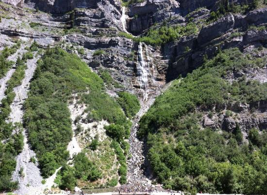 Provo, UT: Bridal Veil Falls, seen from view area off Highway 189