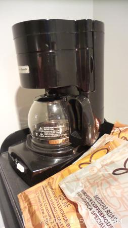 Iowa City, IA: The coffee maker in the room