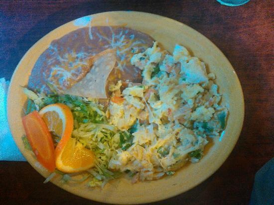 Huevos mexicana.  Yummy!!