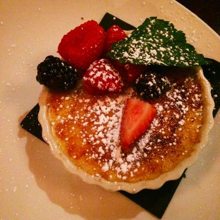 Lynn, MA: Creme Brûlée with berries