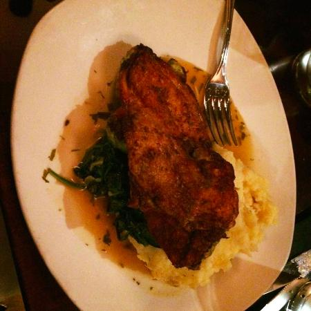 Lynn, MA: Herb Roasted Chicken with mash potatoes and spinach
