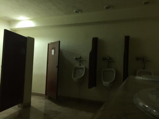 All Ritmo Cancun Resort U0026 Waterpark: Menu0027s Bathroom In Hotel Lobby   Lights  Burnt Out