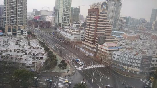 it snowed looking down onto the intersection of middle xizang rh en tripadvisor com hk