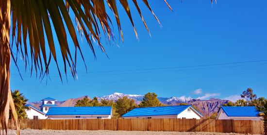 Pahrump, NV: A View Of The New Casitas In The Vineyard from Winery Road