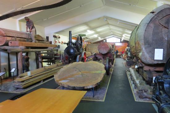 Matakohe, นิวซีแลนด์: Kauri logs transport hall