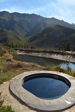 Robertson, Afrika Selatan: View from Stone Cottage Stoep
