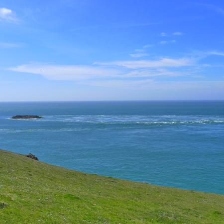The racing tides from Pen Y Cil, Aberdaron