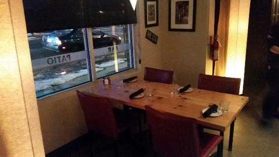 Englewood, CO: Plenty if wine near our semi-private table