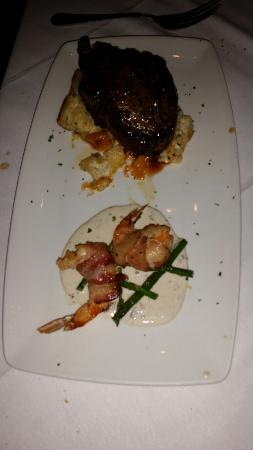 Fleming's Prime Steakhouse & Wine Bar : rib eye steak bacon wrapped_large.jpg