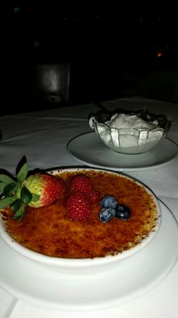 Fleming's Prime Steakhouse & Wine Bar : Creme bulee and chantilly cream_large.jpg