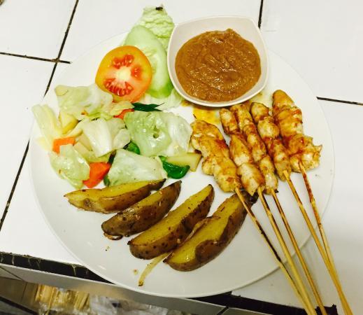 Manggis, Indonezja: Satay stick