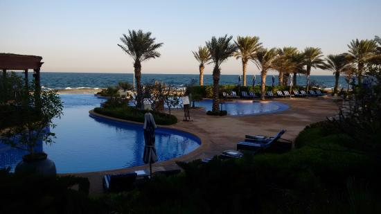Sir Bani Yas Island, De Forenede Arabiske Emirater: Swimming pool in the morning