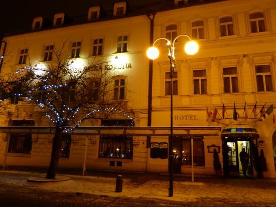 Ceska Koruna: Внешний вид отеля и ресторана