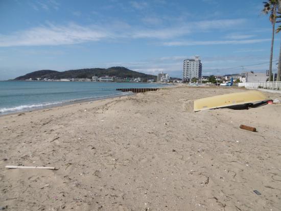 Fukutsu, Japon : ビーチ風景