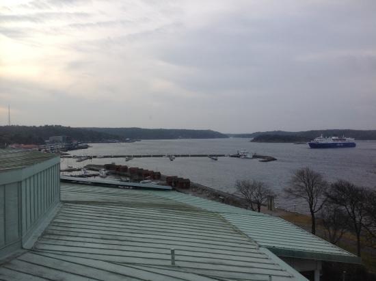 Stromstad, Zweden: View from bathroom