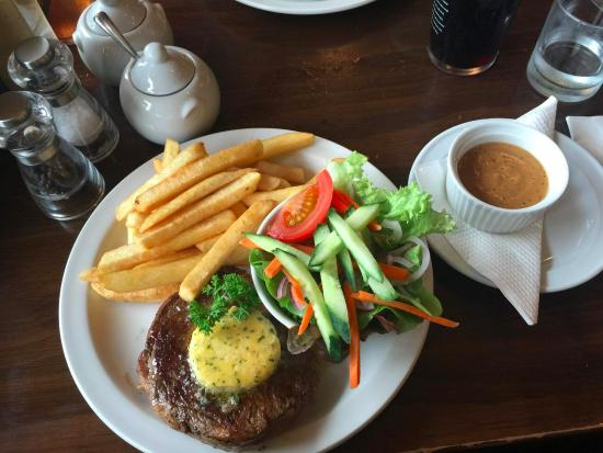 Timaru, Yeni Zelanda: Ribeye steak