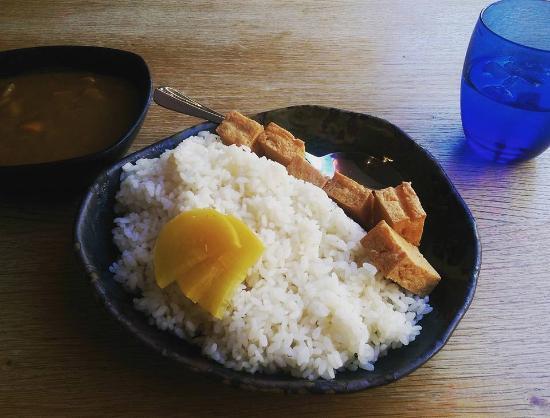 Osaka: Tofu curry with rice