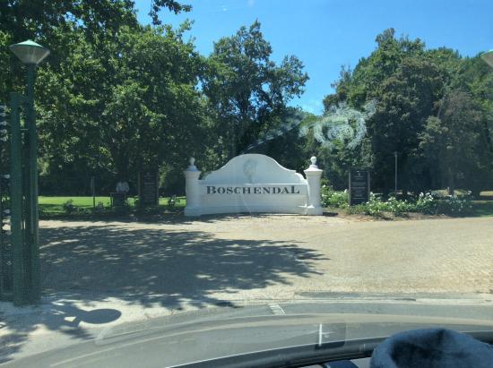 Franschhoek, Sør-Afrika: Einfahrt
