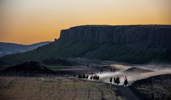 Fludir, Islandia: Riding in Iceland :)