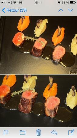 Pertuis, Francja: Magret de canard rôti à la patate douce sauce miel